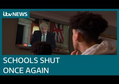 Schools and colleges shut in England as Covid-19 cases surge